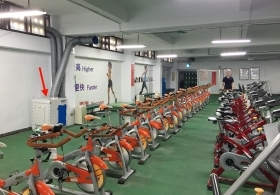 Fitness Center and Maker Space of Banqiao Senior High School applied Oil-Mist collector(COC-S-2045)