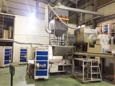 塑膠原料加工廠-改善工廠廠內工作環境