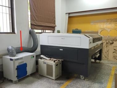 板橋高中 雷射雕刻機教室 空氣淨化
