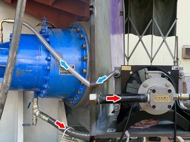 Off-Line Cooler system