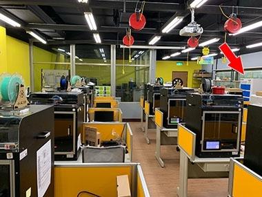 高雄科技大學 3D列印教室 異味過濾淨化