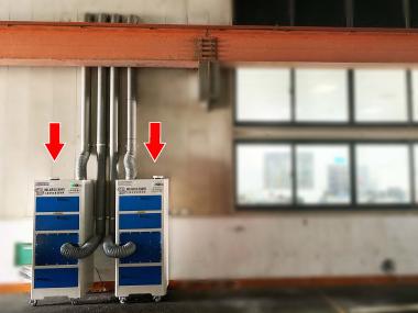 全戶型室外機│工廠內辦公室整間粉塵過濾淨化設備