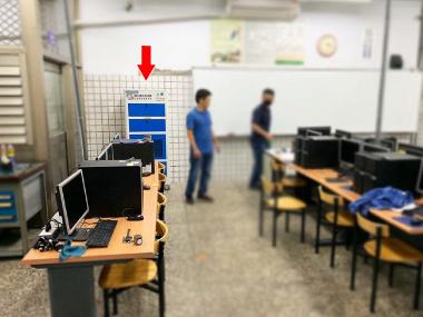 霧峰農工 CNC教室 油霧過濾保護電腦設備
