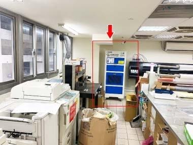 雷射印表機/碳粉影印 過濾粉塵、除臭淨化