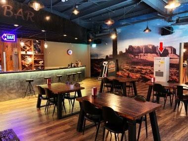 台灣哈雷-Bar Room擺設COOLBIT空氣清淨機
