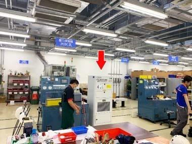 高鐵總機廠使用IAC-7014工業用空氣清淨機,提升環境品質