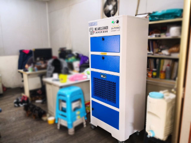 印刷廠內辦公室,辦公室用空氣清淨機,有效且大幅解決粉塵困擾