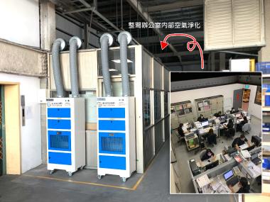 辦公室新風系統過濾淨化結合使用案例-百得機械