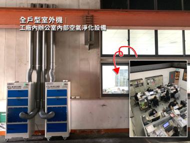 粉塵過濾淨化案例-全戶外型辦公室