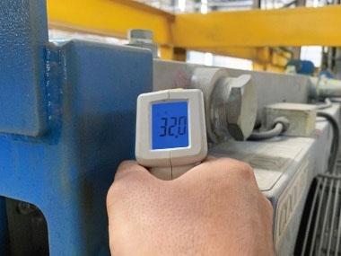 壓鑄機降溫冷卻 夏季量測可達32度C
