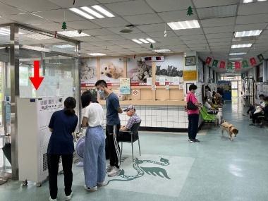 中興大學獸醫院異味汙染. 寵物毛屑過濾淨化