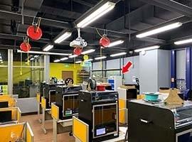 高雄第一科技大學 3D列印機教室 空氣淨化過濾