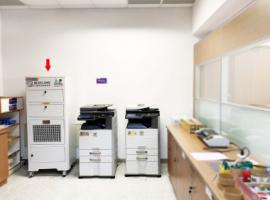 台中航空站影印機室內除臭、淨化