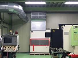 加裝NF鎳金屬油霧過濾器-保護空調元件免受切削油侵蝕損害