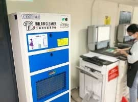 學校影印室空氣淨化,除粉塵+除臭